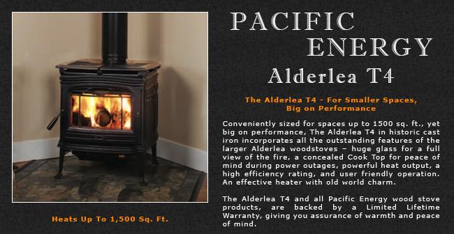 Pacific Energy Alderlea T4 Wood Stove Adams Stove Company Wood Stoves In Western Mass Pellet Stoves In Massachusetts Wood Stoves Pellet Stoves In The Berkshires