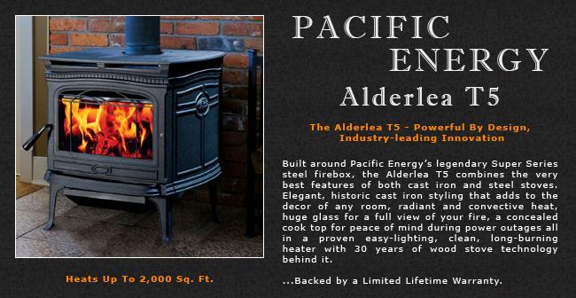 Pacific Energy Alderlea T5 Wood Stove Adams Stove Company