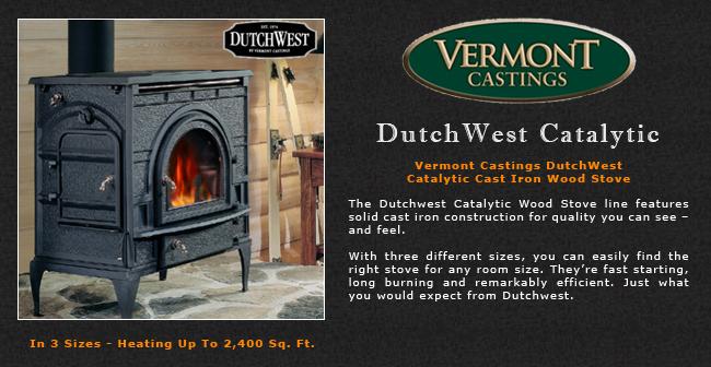 Vermont Castings Dutchwest Catalytic Wood Stove Adams