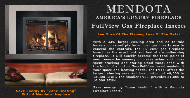 Pleasant Mendota Full View Gas Fireplace Inserts Adams Stove Company Beutiful Home Inspiration Truamahrainfo