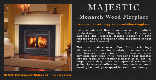 Majestic Monarch Gas Fireplace Adams Stove Company Wood Stoves In