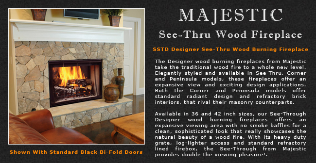 Majestic See Thru Wood Fireplace Adams Stove Company Wood