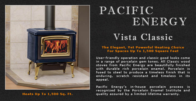 Pacific Energy Vista Classic Wood Stove Adams Stove
