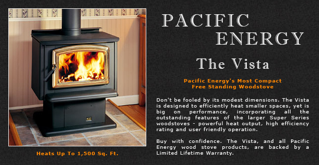 Pacific Energy Vista Wood Stove Adams Stove Company Wood